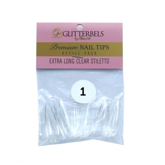 Glitterbels Clear Stiletto Nail Tips