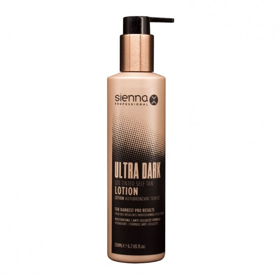 Sienna X Q10 Tinted Self Tan Ultra Dark Lotion 200ml
