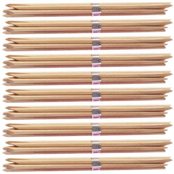 Lotus Orange Wood Sticks 7in x 100