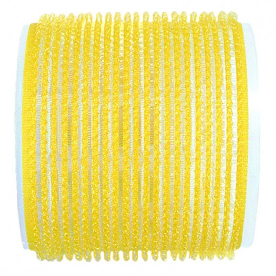 Jumbo Velcro Rollers Yellow 66mm x 6