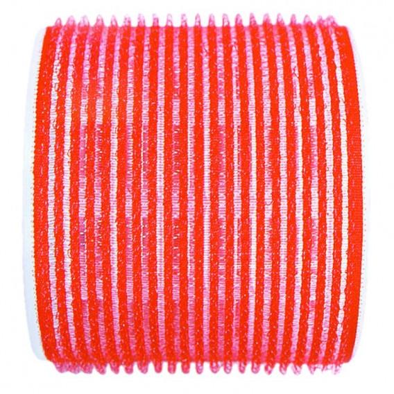 Jumbo Velcro Rollers Red 70mm x 6