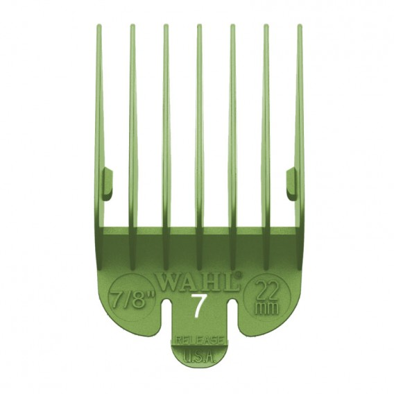 Wahl Coloured Attachment Comb No.7 Green 22mm