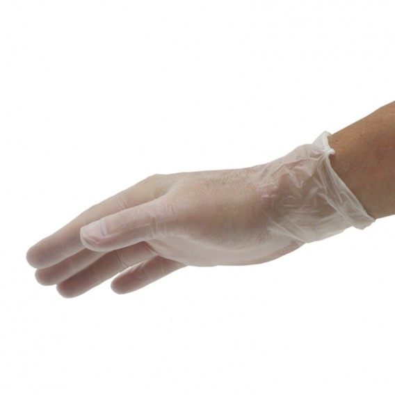 Disposable Vinyl Gloves Large 50 pairs