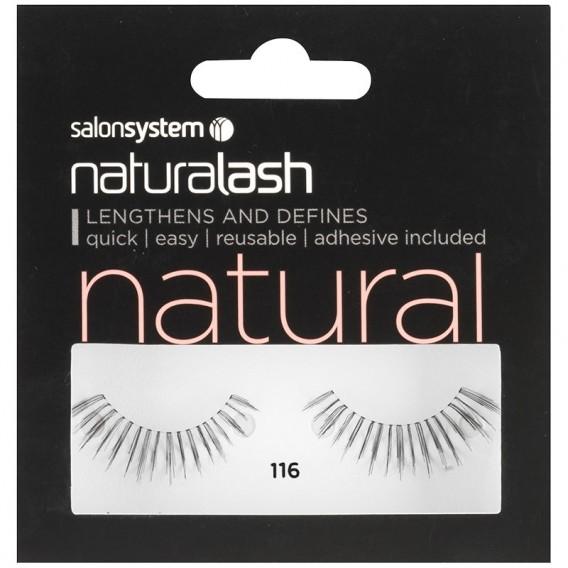 Salon System Naturalash Strip Eyelashes 116 Black Salons Direct
