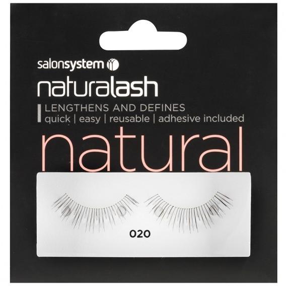 Salon System Naturalash Strip Eyelashes 020 Black