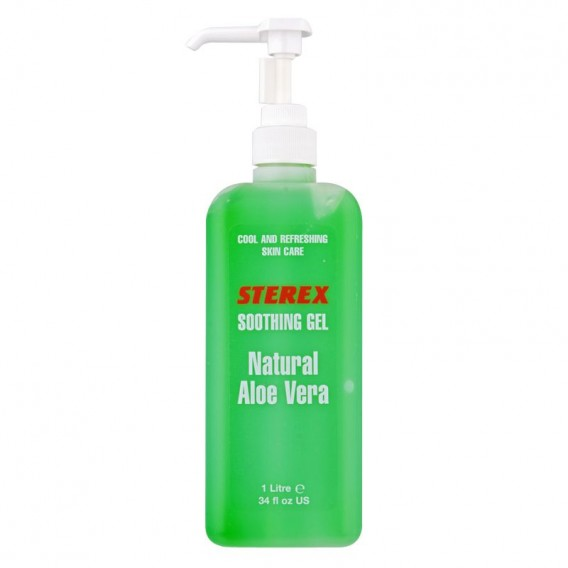 Sterex Natural Aloe Vera Soothing Gel with Pump 1 Litre