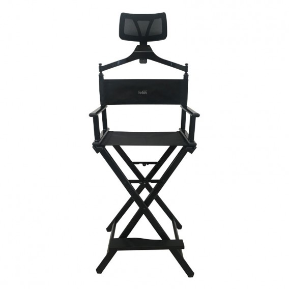 Lotus Make Up Chair With Head Rest Black