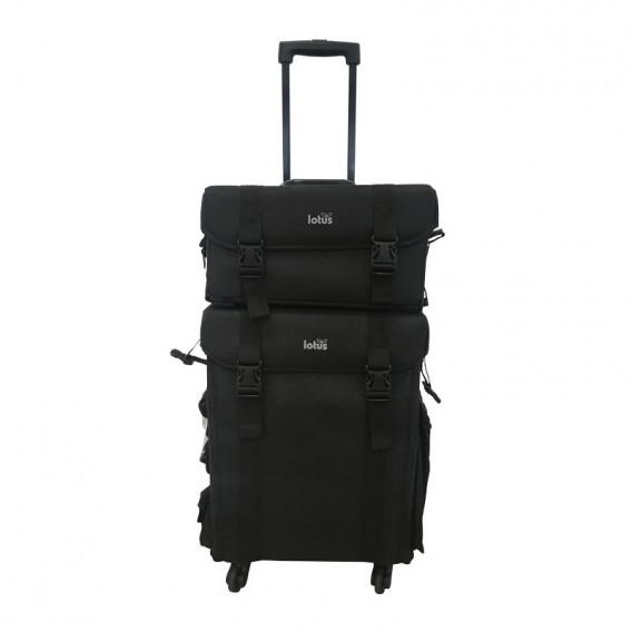 Lotus Duo Beauty Case And Trolley Black