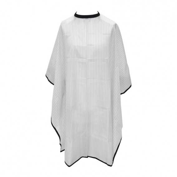 Salons Direct Pinstripe Barber Cape with Popper Fastening
