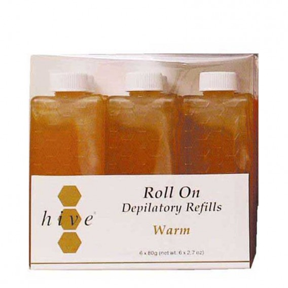 Hive Roller Depilatory Refills Warm Honey Wax 80g x 36
