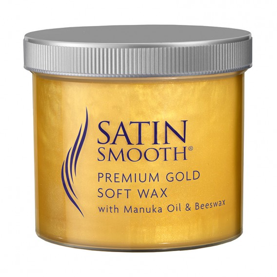Satin Smooth Premium Gold Wax with Manuka Oil + Beeswax 450g by BaByliss Pro