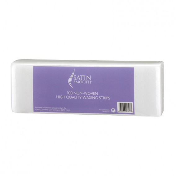 Satin Smooth Non Woven Paper Waxing Strips (Pack of 100)