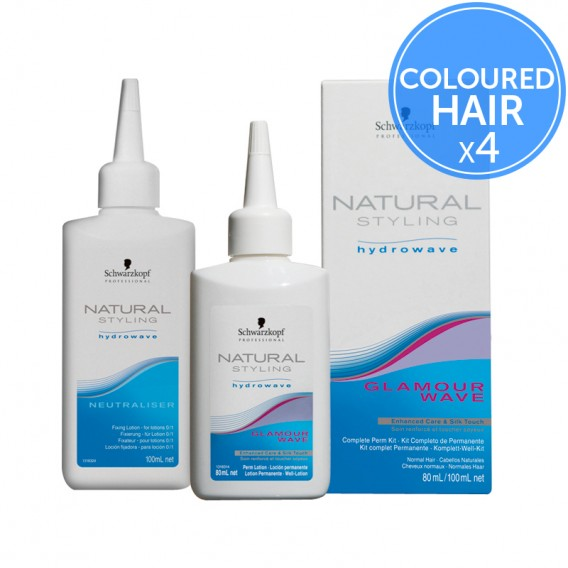 Schwarzkopf Natural Styling Hydrowave Glamour Wave 2 Pack of 4 Perms