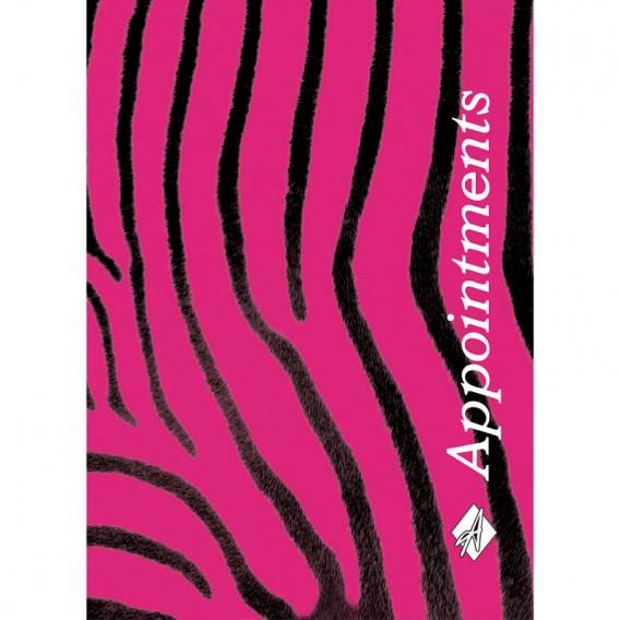 Agenda Appointment Book 6 Column Pink Zebra