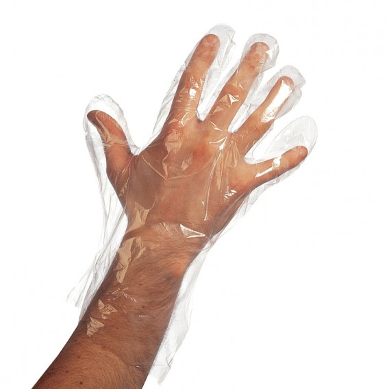 Disposable Poly Gloves 50 pairs
