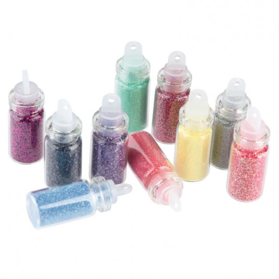 Sibel Nail Glitter Dust Kit 1 Pack of 10