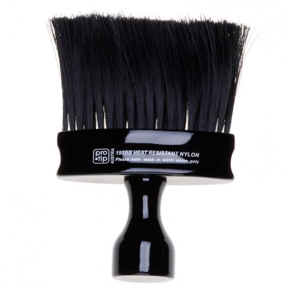 Pro-Tip Neck Brush Oval Handle Black Bristles