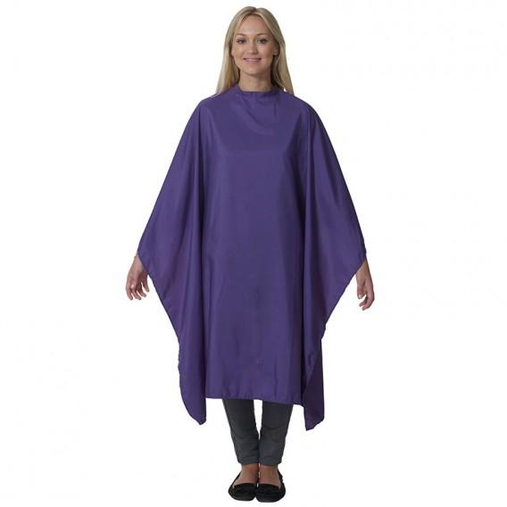 Salons Direct Pop Shot Purple Rain Gown with Popper Fastener