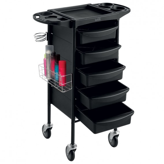 Lotus Onyx Salon Equipment Trolley Black