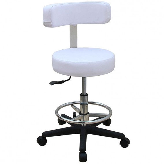 Lotus Spa Stool with Curved Back