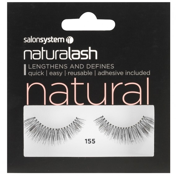 Salon System Naturalash 155 Black Strip Lashes