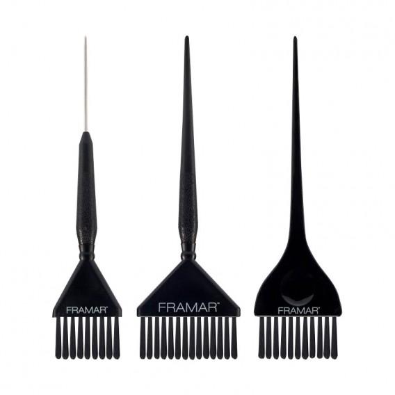 Framar Family Pack Set of 3 Black Brushes