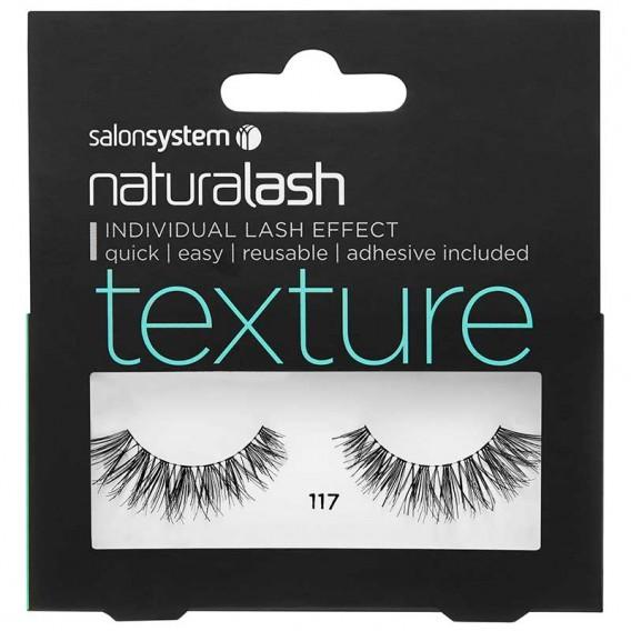 Salon System Naturalash 117 Black Texture Strip Lashes