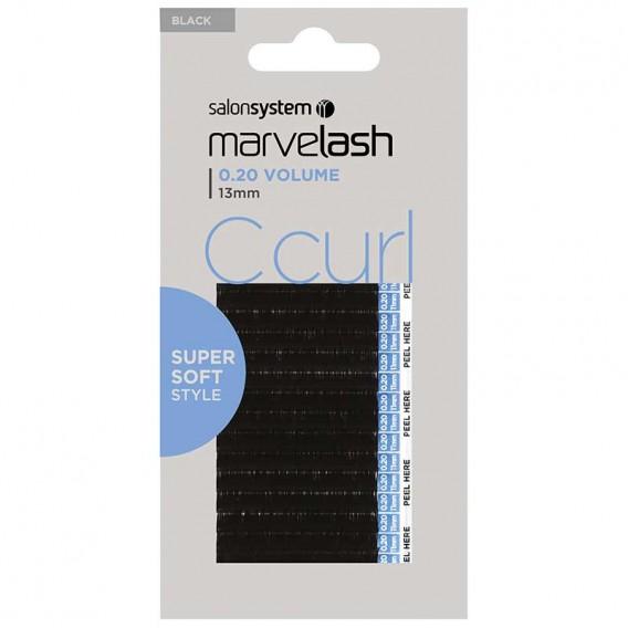 Marvelash C Curl Lashes 0.20 Volume 13mm Black x 2960 by Salon System