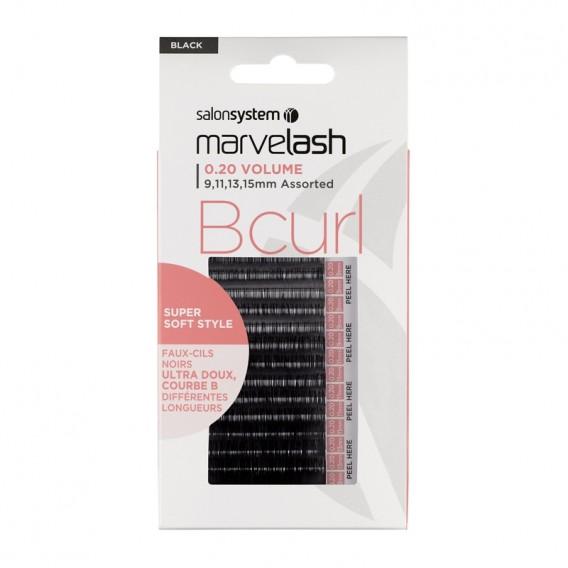 Marvelash B Curl Lashes 0.20 Volume Assorted Lengths Black x 2960 by Salon System
