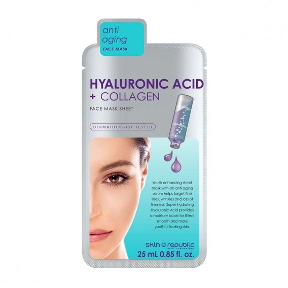 Skin Republic Hyaluronic Acid & Collagen Face Mask Sheet