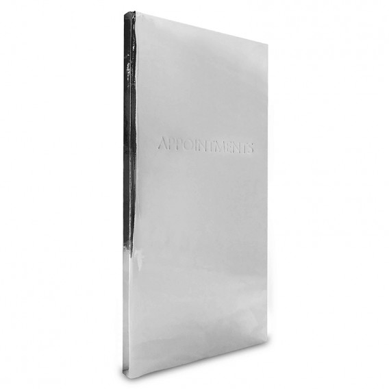 Appointment Book 3 Column Silver