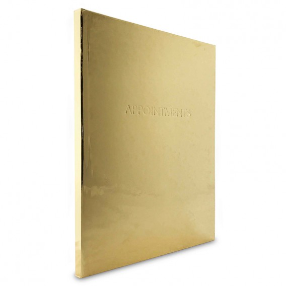 Appointment Book 6 Column Gold