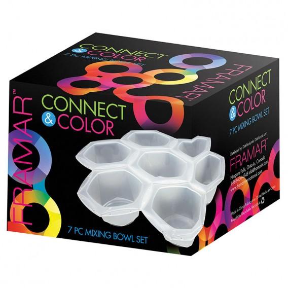 Framar Connect & Colour Bowls Clear 7pc