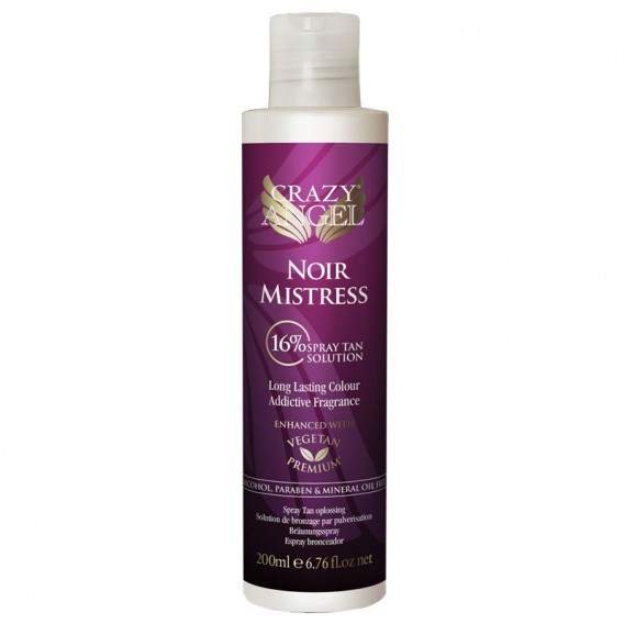 CRAZY ANGEL Tan Solution Noir Mistress 16% DHA 200ml