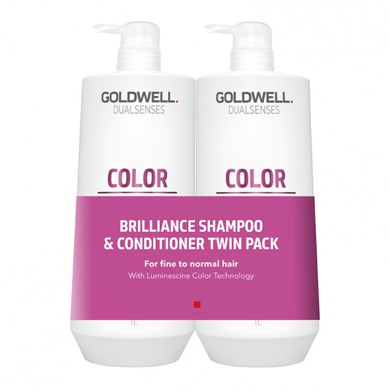 Goldwell Dualsenses Colour Brilliance 1L Twin Pack Shampoo and Conditioner