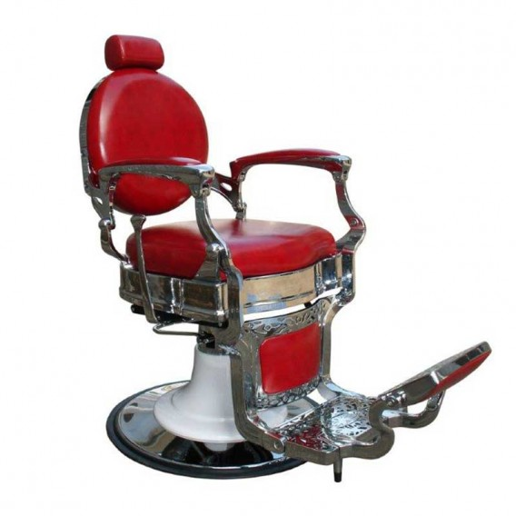 Lotus Gilmour Barber Chair Red Salons Direct