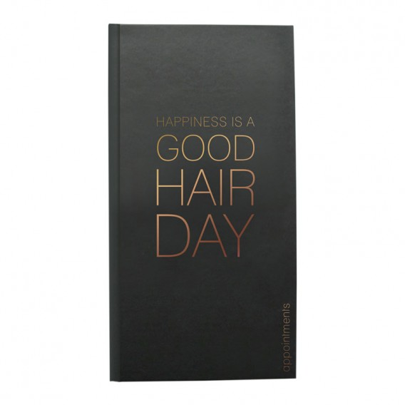 Agenda Appointment Book Column Black + Rose Gold
