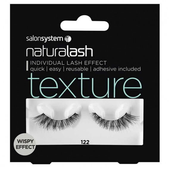 Salon System Naturalash 122 Black Texture Wispy Effect Strip Lashes
