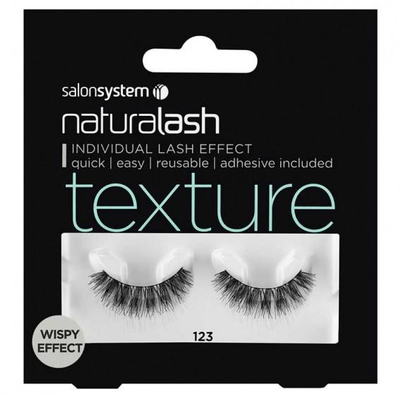 Salon System Naturalash 123 Black Texture Wispy Effect Strip Lashes