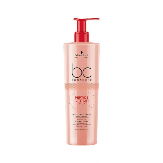 Bonacure Peptide Repair Rescue Micellar Cleansing Conditioner 500ml by Schwarzkopf