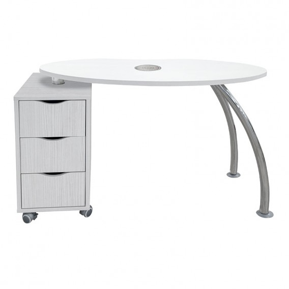 Vismara Brio Easy Nail Table With Air Filter In White Larch