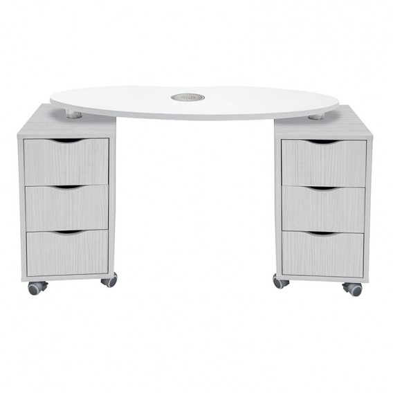 Vismara Brio Nail Table With Air Filter In White Larch