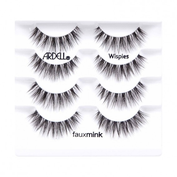 Ardell Multipack Faux Mink Wispies Strip Lashes 4pk