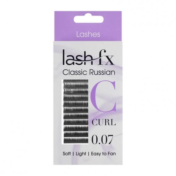 Lash FX Classic Russian Lashes C Curl Extra Fine 0.07