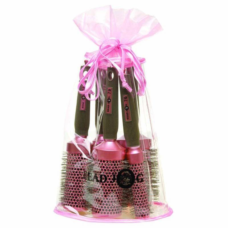 Head Jog Oval Bag Pink Brush Set Salons Direct
