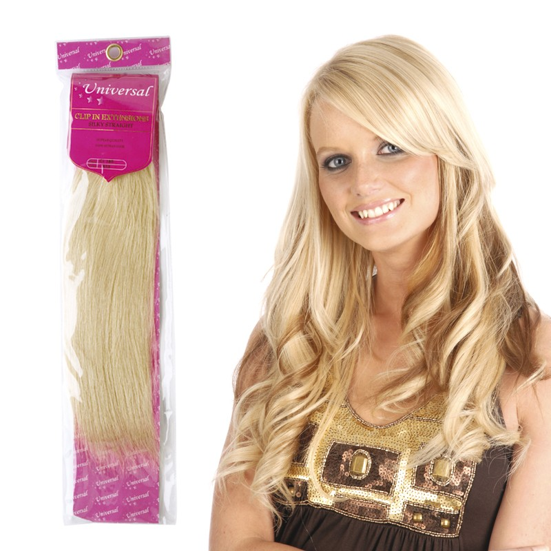 Universal 18in Clip In Human Hair Extensions 105g Salons Direct