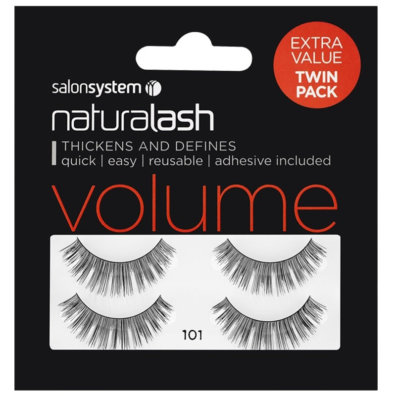 1558bdfa220 Salon System Naturalash Twin Pack Strip Eyelashes 101 Black | Salons ...
