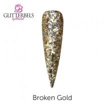 Glitterbels Coloured Acrylic Powder 28g Broken Gold