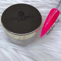Glitterbels Acrylic Powder 28g Highlighter Pink
