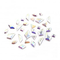 Swarovski Crystals for Nails Crystal AB Mini Shapes Mix x 60